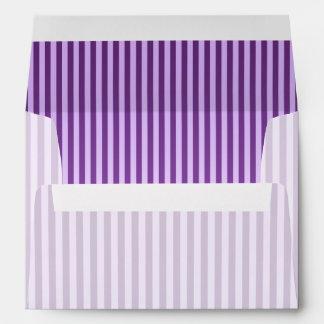 Purple Stripey Striped Pattern Envelope