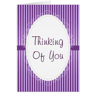 Purple Stripey Thinking of You Card