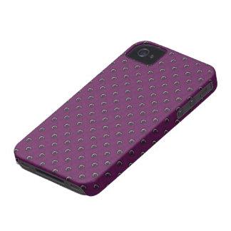 Purple Studded iPhone 4/4S Case Mate Case