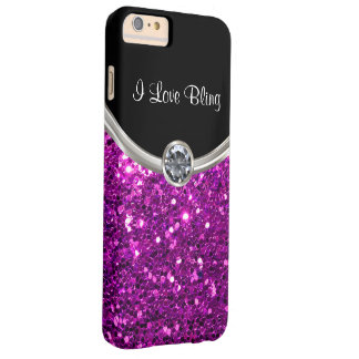 Purple Stylish Bling Barely There iPhone 6 Plus Case