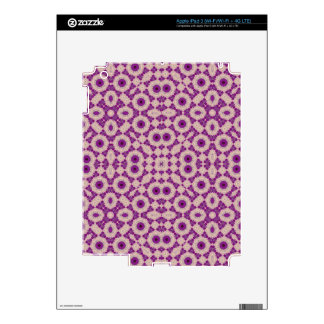 Purple Stylish Pattern Decal For iPad 3