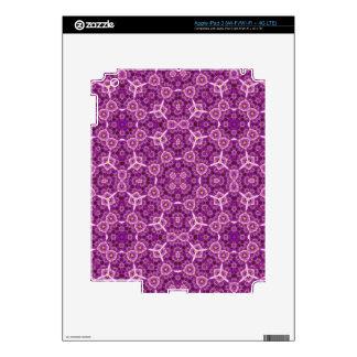 Purple Stylish Pattern Skin For iPad 3