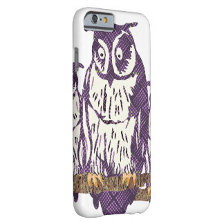 Purple Stylized Geometric Owl Family Barely There iPhone 6 Case