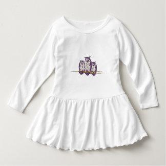 Purple Stylized Geometric Owl Family Tee Shirt