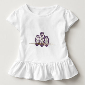 Purple Stylized Geometric Owl Family Toddler T-shirt