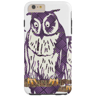 Purple Stylized Geometric Owl Family Tough iPhone 6 Plus Case