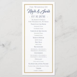 Purple Succulents with Blue Text Tan Line Wedding Program