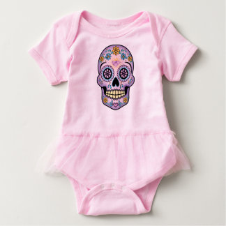 Purple Sugar Skull Baby Bodysuit