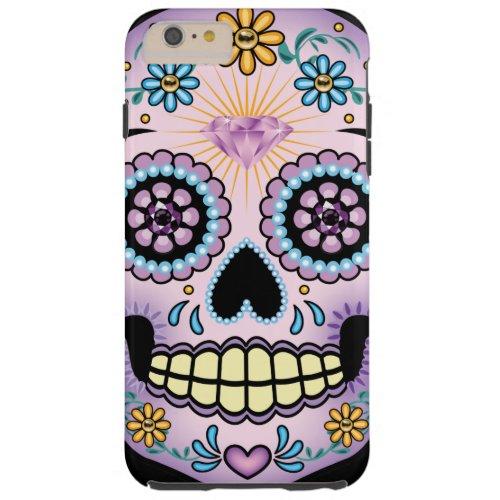 Purple Sugar Skull Phone Case