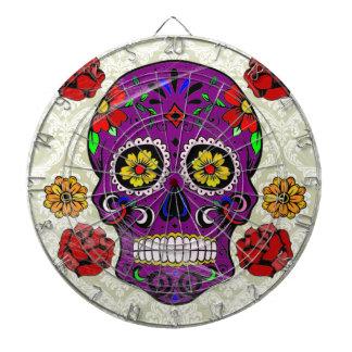 Purple Sugar Skull (Day of the Dead) Dartboard