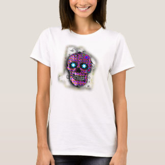 Purple Sugar Skull, Day of The Dead T-Shirt