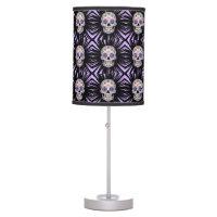 Purple Sugar Skull Desk Lamp