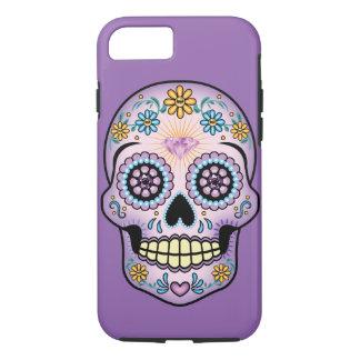 Purple Sugar Skull iPhone 7 Case