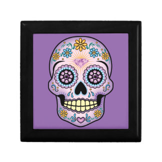 Purple Sugar Skull Jewelry Box