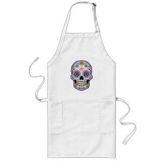 Purple Sugar Skull Long Apron