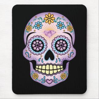 Purple Sugar Skull Mouse Pad