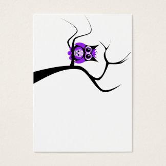 Purple Sugar Skull Owl in Tree Business Card