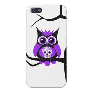 Purple Sugar Skull Owl in Tree Speck Case