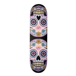 Purple Sugar Skull Skateboard Deck