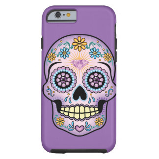Purple Sugar Skull Tough iPhone 6 Case