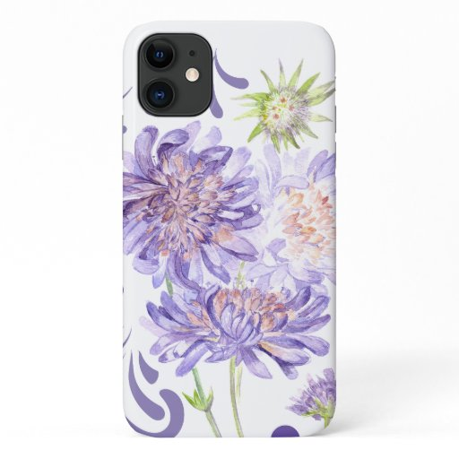 purple summer meadow flowers iPhone 11 case