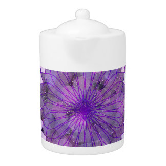 purple sun - home decor & set teapot