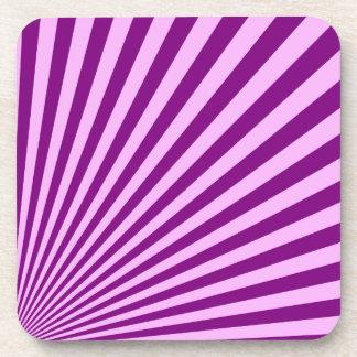 Purple Sun Rays Background Beverage Coaster