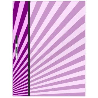 Purple Sun Rays Background Dry-Erase Board