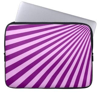 Purple Sun Rays Background Laptop Sleeve