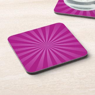 Purple Sun Rays Pattern Coaster