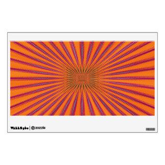 Purple sun wall decal