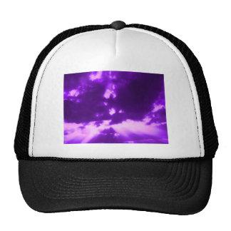 purple sunbeams trucker hat