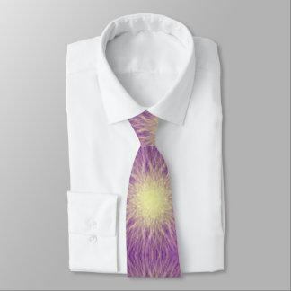 Purple Sunburst Abstract Men's Tie