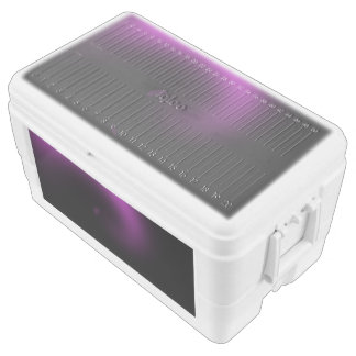 Purple Sunburst Twirl Chest Cooler