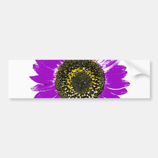 Purple Sunflower Bumper Sticker