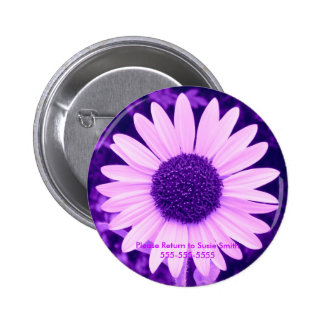 Purple Sunflower Lable Button