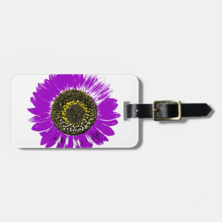 Purple Sunflower Tag For Bags