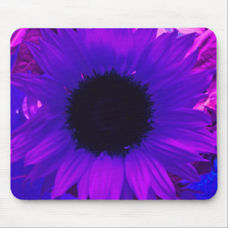Purple Sunflower Mouse Pad
