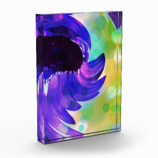 Purple Sunflower Swirl Art in Acrylic Award