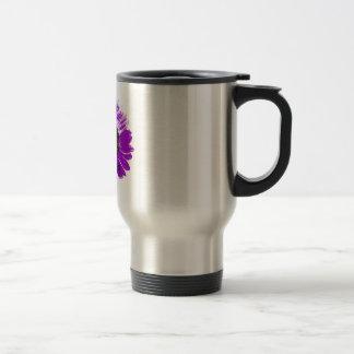 Purple Sunflower Travel Mug