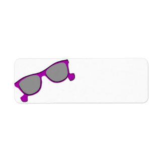 Purple Sunglasses Custom Return Address Labels