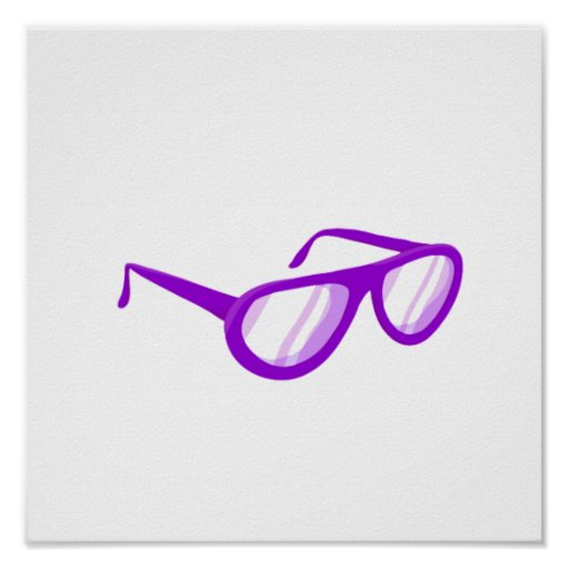 purple sunglasses reflection.png posters