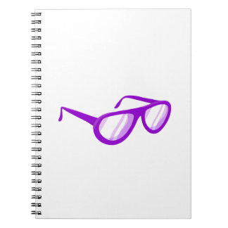 purple sunglasses reflection.png spiral notebook