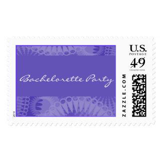 Purple Sunray Border Postage Stamp