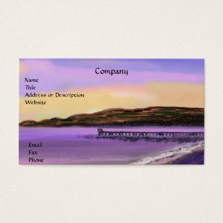 Purple Sunrise Beach Business Card