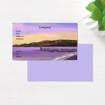 Beach Themed Purple Sunrise Beach Business Cards
