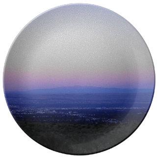 Purple Sunrise Porcelain Plate