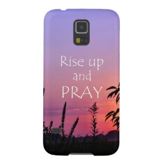 Purple Sunrise with Prayer Bible Verse Case For Galaxy S5