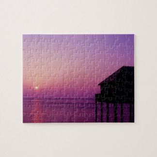 Purple Sunset at Lake Constance - Puzzle