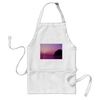 Purple Sunset at the Lake Constance Adult Apron